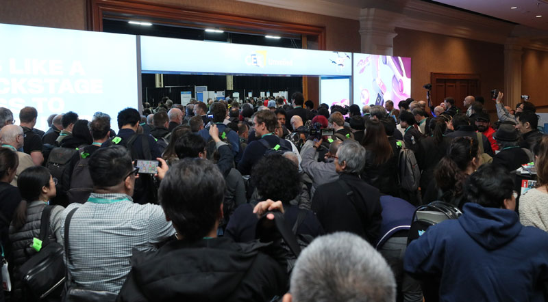 CES 2020 Opening crowd