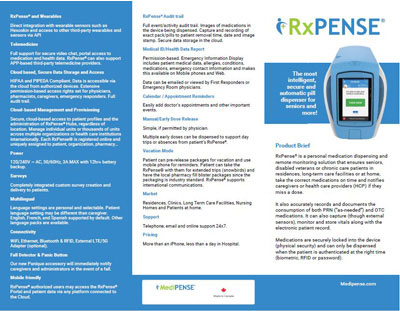 RxPense product brief brochure