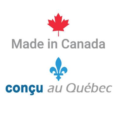 Made in Canada - Concu au Quebec