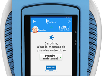 RxPense®, le meilleur dispositif de prise de médicament pour personnes âgées au CES 2019