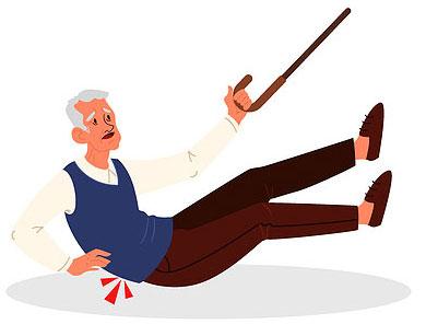 chute de seniors