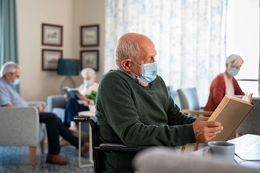 Salon de la résidence pour personnes âgées en SLD