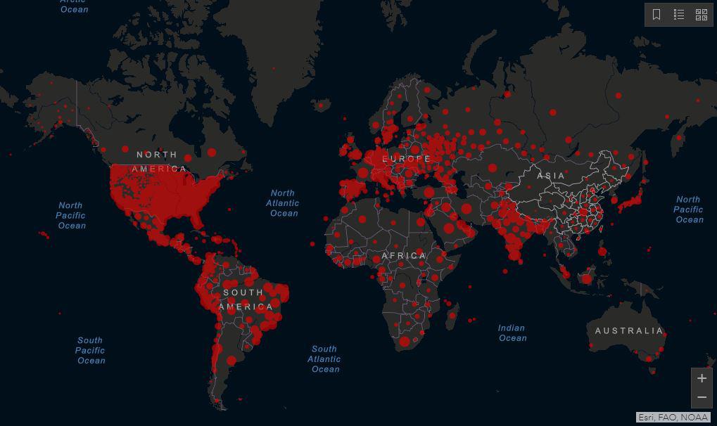 covid-spread-world-map