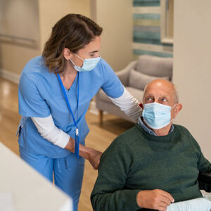 LTC nurse with patient
